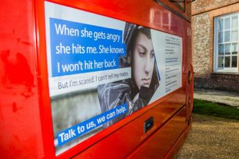 One of the advertisements appearing on Brighton buses as part of Sussex police's new campaign. Credit: @sussex_police